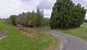foto van de toegangsweg naar de Keppekeutel.